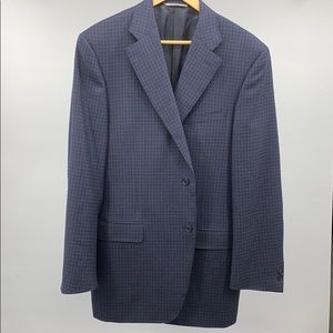 Canali blue check wool sports coat